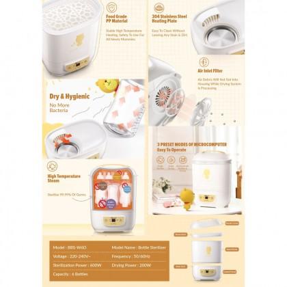 Bear Stainless Steel Baby Bottles Sterilizer and Milk Warmer BBS-W6D