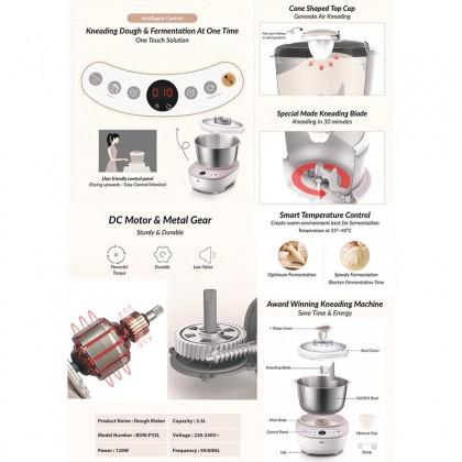 Bear Dough Maker Mixer BDM-P35L Bread Maker Home Automatic Mixer Mircocomputer Timing Malaysia 3-Pin Plug (3.5L)